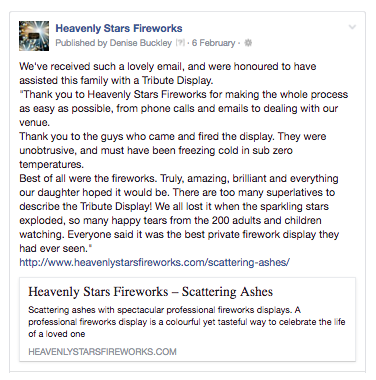 heavenly stars fireworks review facebook